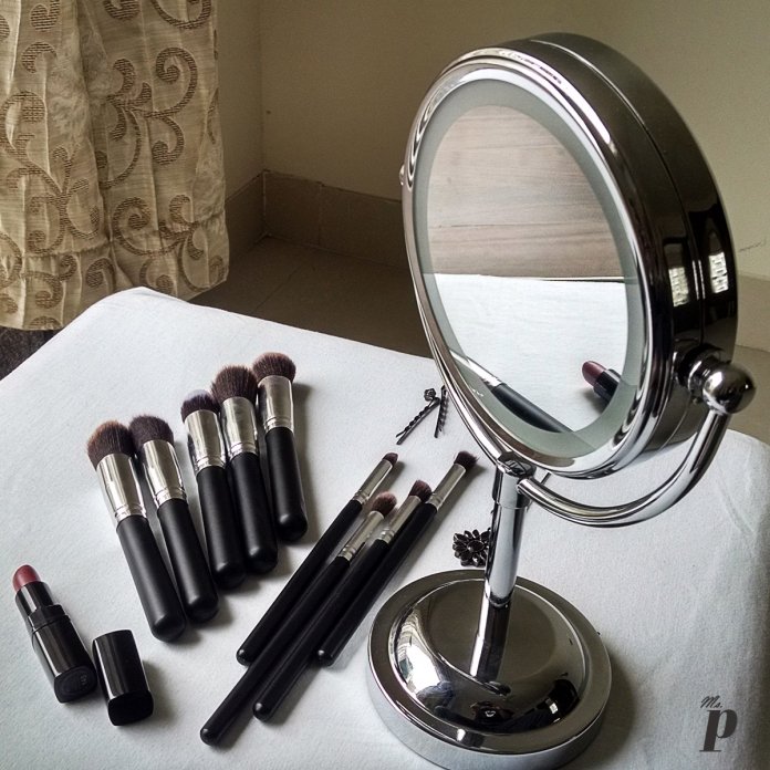 Makeup Brushes & Vanity mirror from Aliexpress.com