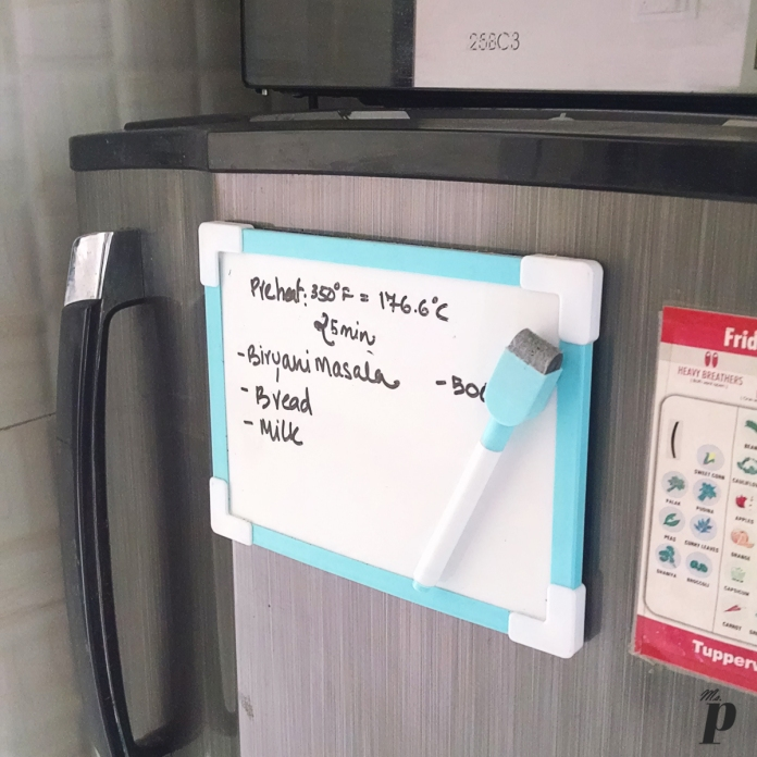 Daiso - Magnetic White Board with Marker Review Price organization Daiso Haul