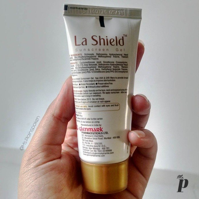 La Shield Sunscreen Gel by Glenmark Pharmaceuticals | Ingredients