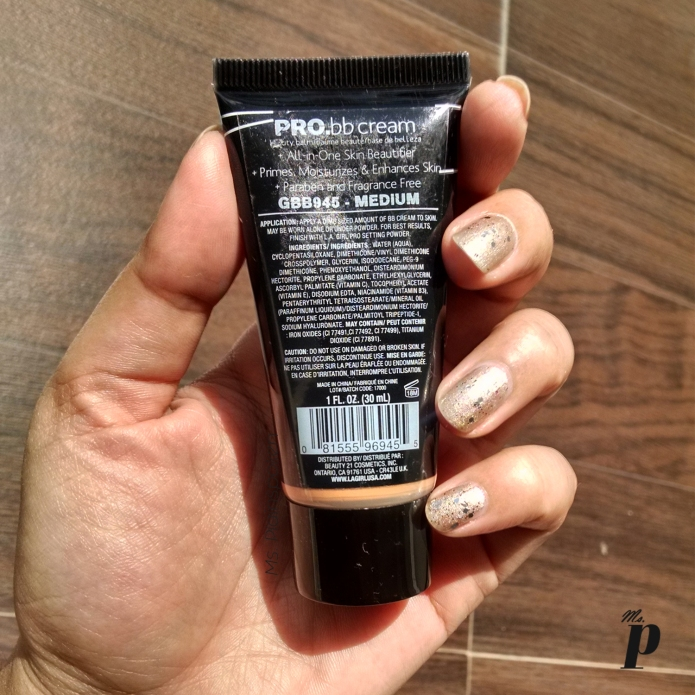 L.A Girl Pro BB Cream Review & Swatches
