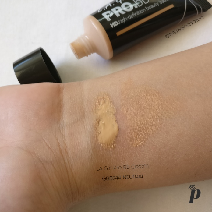 LA Girl BB Cream Neutral Swatch & Review3
