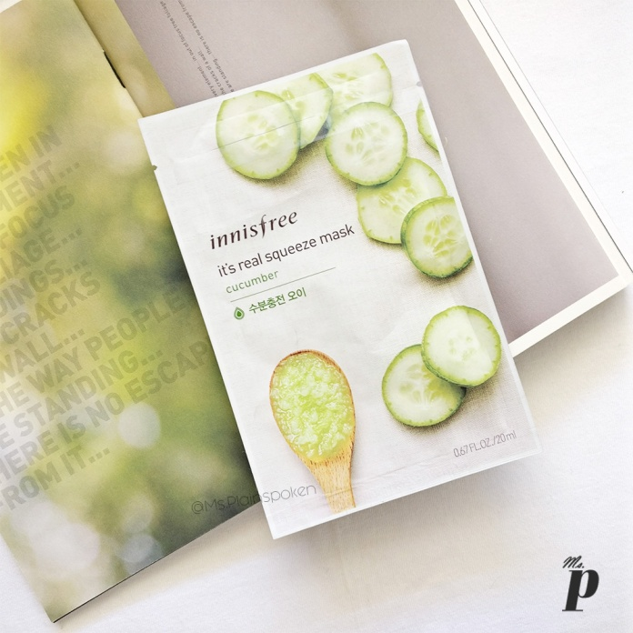Innisfree | It's real squeeze - Sheet Mask | Cucumber, 10 things you need to know about sheet masks, how to use sheet masks correctly