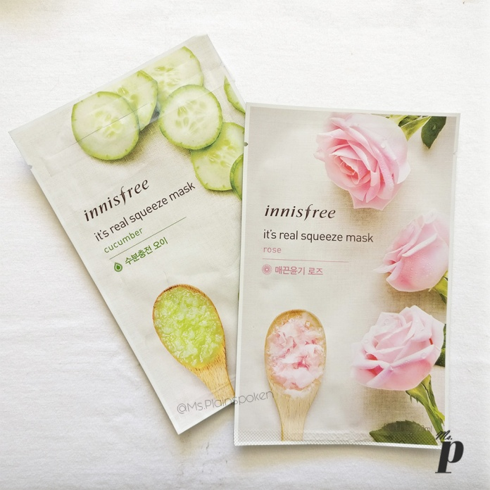 Innisfree | It's real squeeze - Sheet Mask | Cucumber & Rose