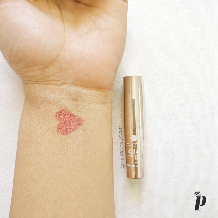 Lakme 9-5 Creaseless lipstick_swatches and review 2