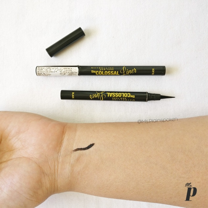 Maybelline Colossal Liner Review and Swatches3