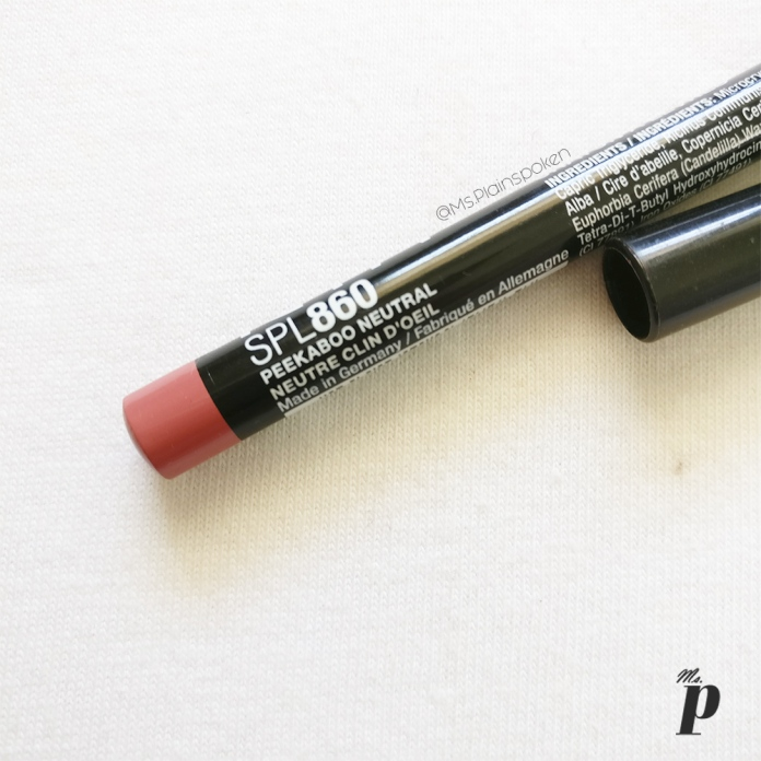 NYX Slim Pencil Lip Liner SPL 860 Peekaboo Neutral Swatches & review2