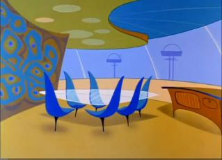 Tulip Chair inspired furniture on Jetsons (2)