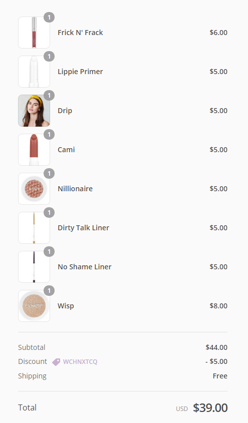 Colourpop Haul, Review and Swatches on Indian Skin, Colourpop Purchase Experience and Shipping cosmetics from USA to India