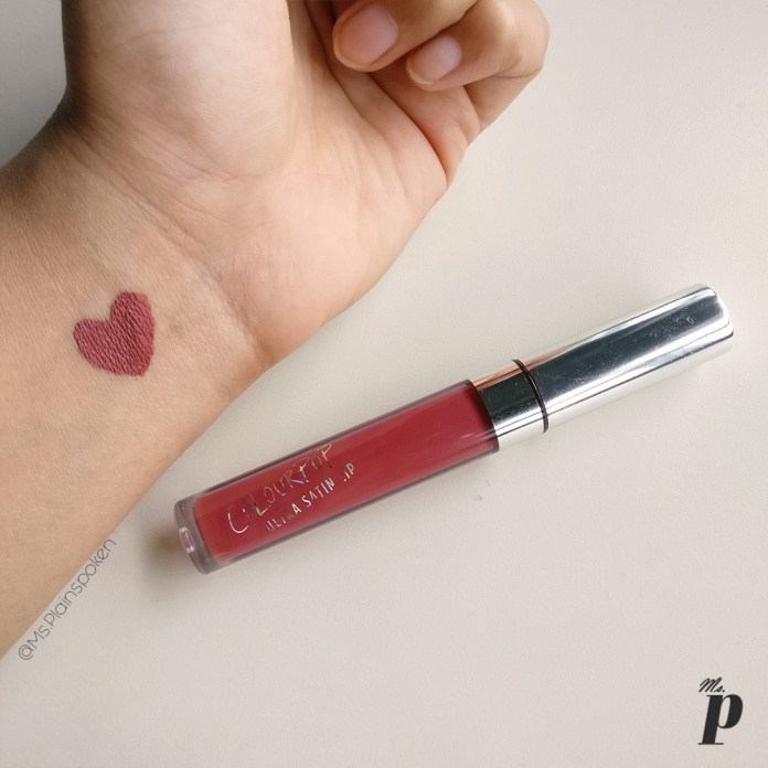 Ultra Satin Liquid Lipstick Frick N' Frack Colourpop Haul, Review and Swatches on Indian Skin, Colourpop Purchase Experience and Custom Duty while Shipping cosmetics from USA to India
