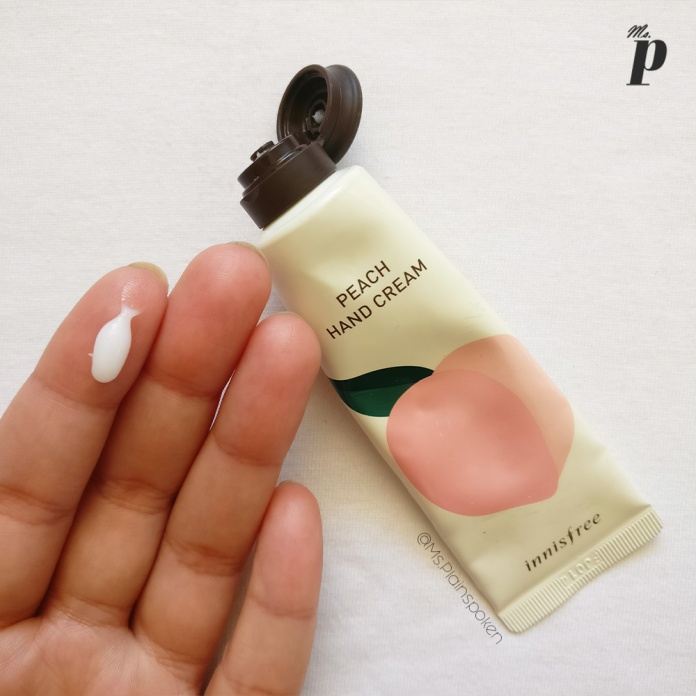 Innisfree | Jeju Peach Hand Cream Review India | Texture & Colour