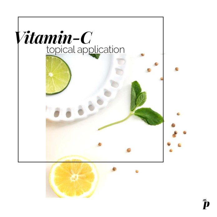 Vitamin C skincare benefit is with topical application instead of orally consumption.