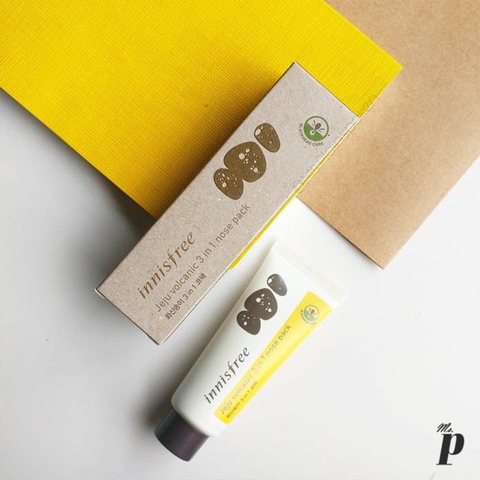 Innisfree: Jeju Volcanic 3 in 1 nose pack | Review and test on Indian skin