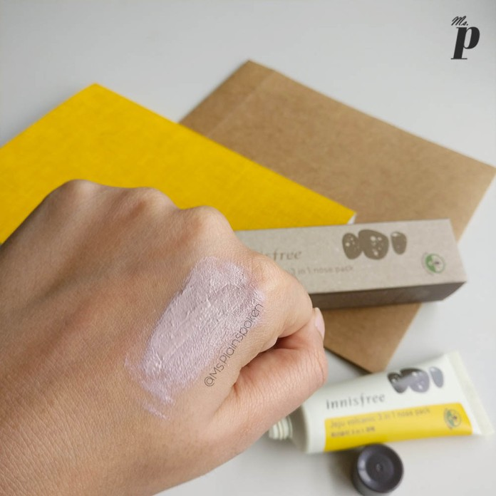 Innisfree: Jeju Volcanic 3 in 1 nose pack | Consistency -Spreadability while damp | Review & Tested on Indian Skin
