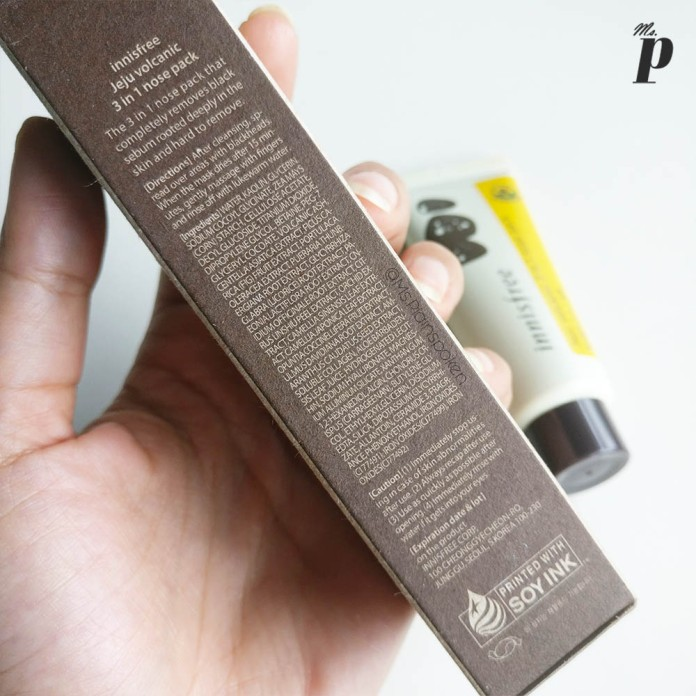 Innisfree Jeju Volcanic 3 in 1 nose pack _Ingredients_ Review and Tested on Indian SKin