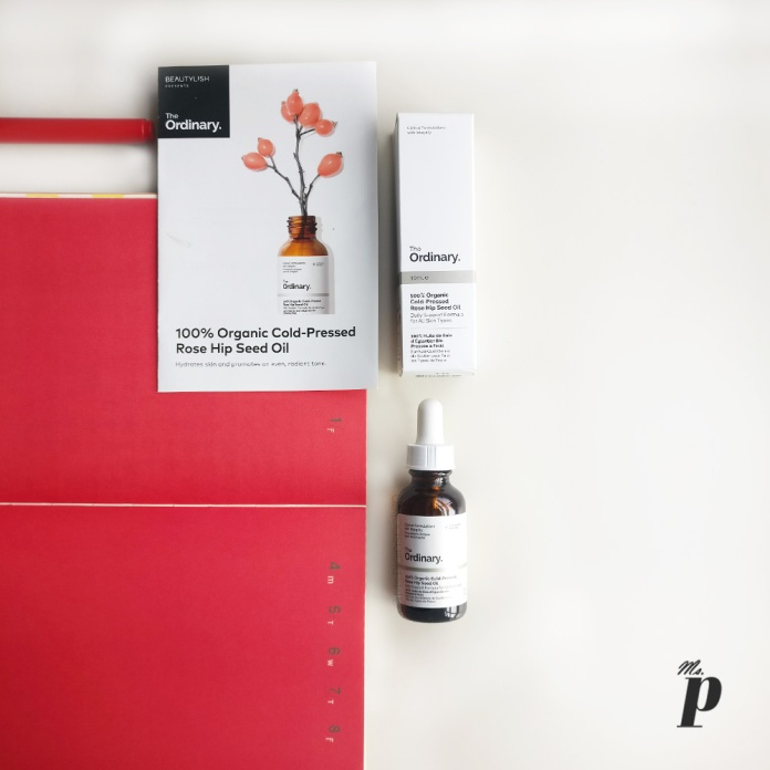 The Ordinary: 100% Organic Cold-Pressed Rose Hip Seed Oil_ review _ India_ shipping _consistency _colour_ packaging