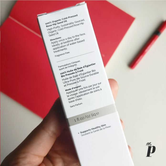 The Ordinary: 100% Organic Cold-Pressed Rose Hip Seed Oil_ review _ India_ shipping _consistency _colour_ packaging_directions