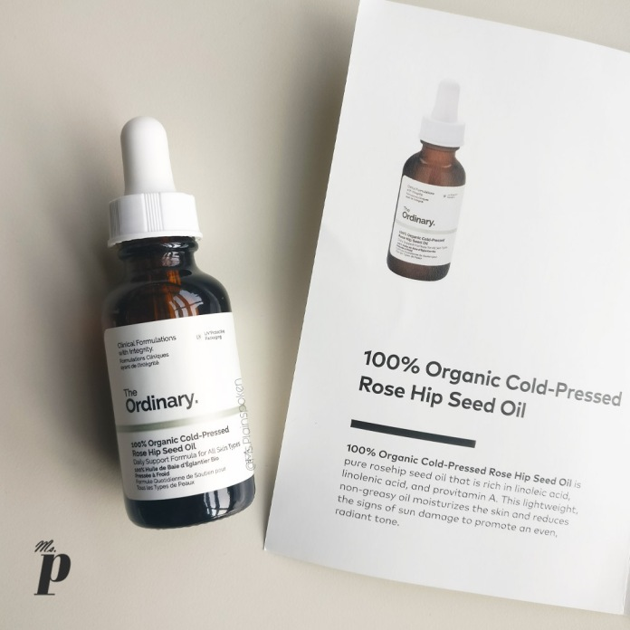 The Ordinary: 100% Organic Cold-Pressed Rose Hip Seed Oil_ review _ India_ shipping _experience_from_Beautilish.com