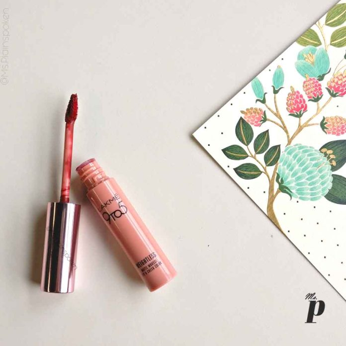 Lakme 9to5 weightless matte mousse lip and cheek colour burgundy lush swatch review2
