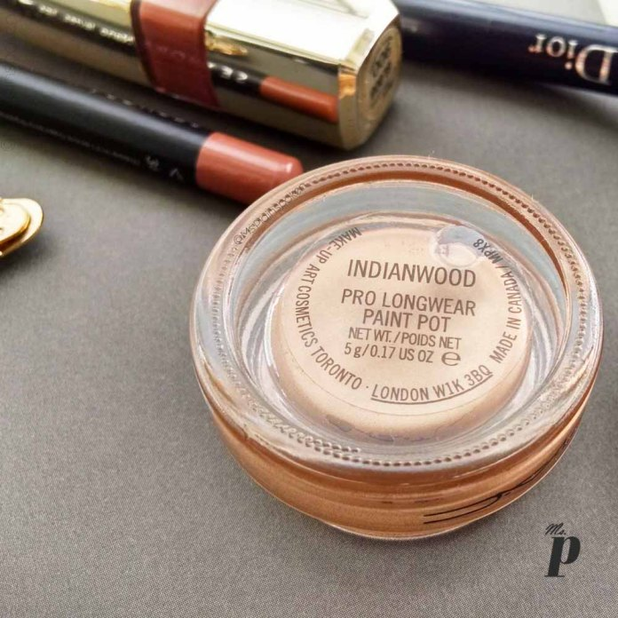 MAC Pro Longwear Paint Pot Shade Indianwood Eyeshadow Review Swatches5