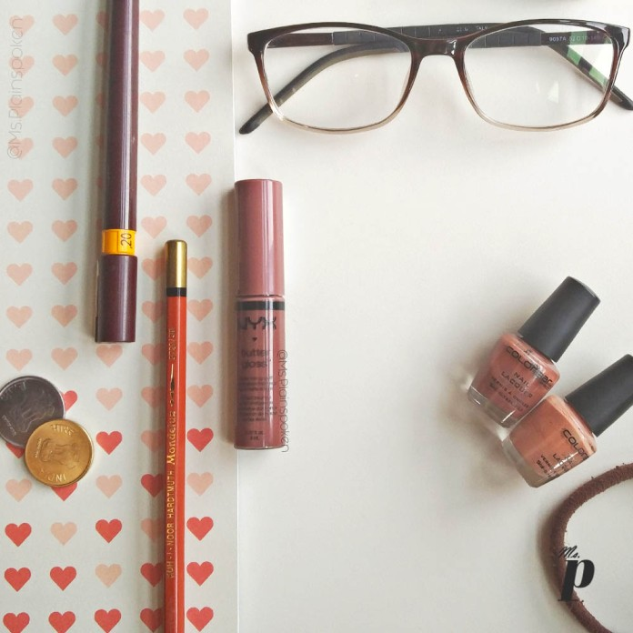 NYX Butter Gloss BLG17 Ginger Snap Swatch Review India Dark Skin2