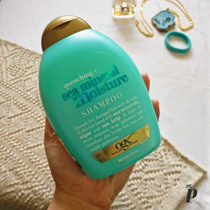 Organix OGX quenching sea mineral moisture shampoo review india