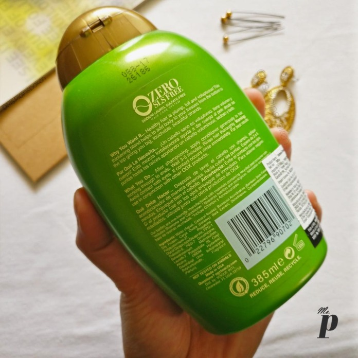 OGX- Strength +Body Bamboo Fiber Full Conditioner - review india claims