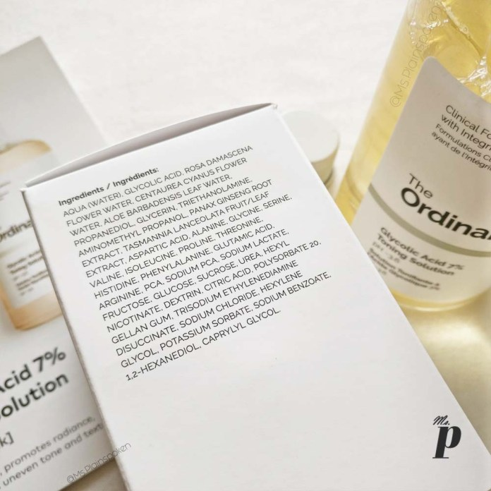 The Ordinary Glycolic acid 7 percent toning solution review india ingredients and formulation