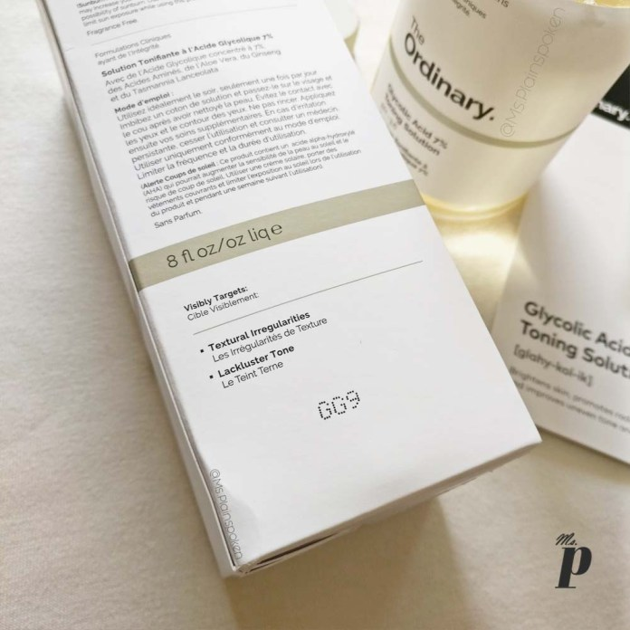 The Ordinary Glycolic acid 7 percent toning solution review india claims quantity and uses