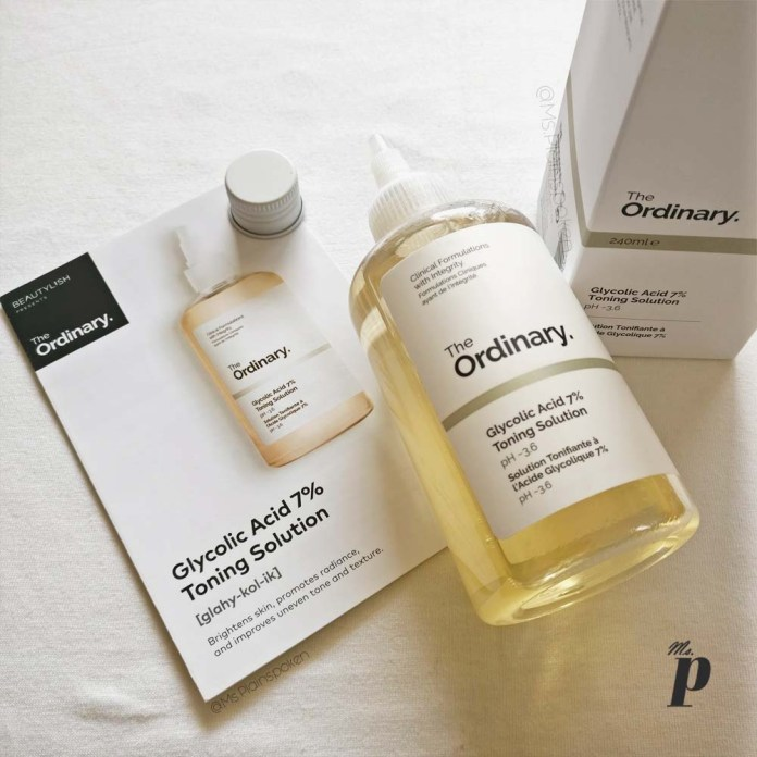 The Ordinary Glycolic acid 7 percent toning solution review india efficasy