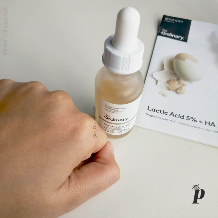 The Ordinary Lactic Acid 5 HA 2 Review India Absorption Finish