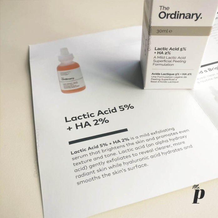 The Ordinary Lactic Acid 5 HA 2 Review India Outer Packaging Information card from beautylish2
