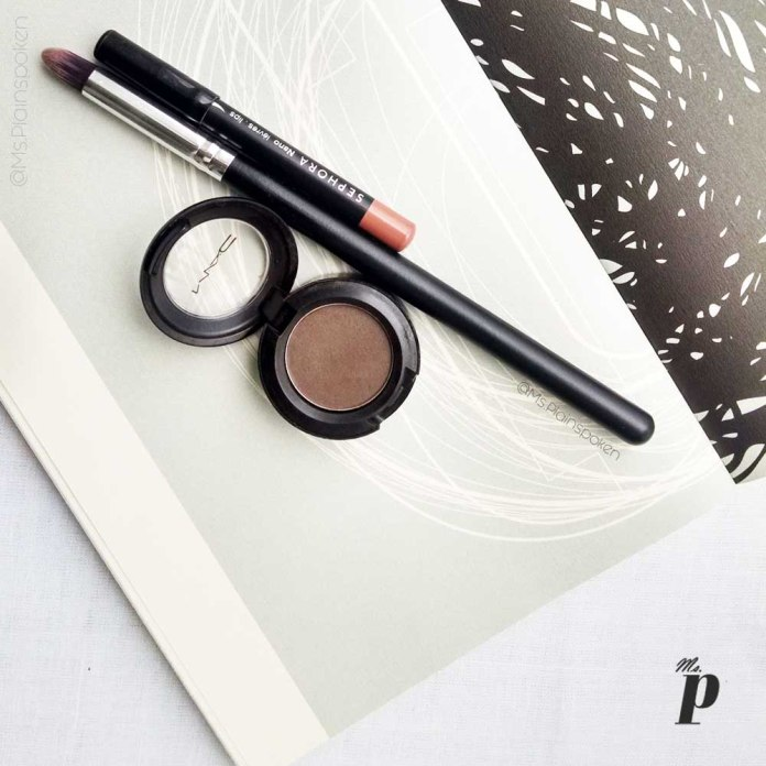 MAC Satin Eye Shadow - Brun Review and swatches on Indian skin