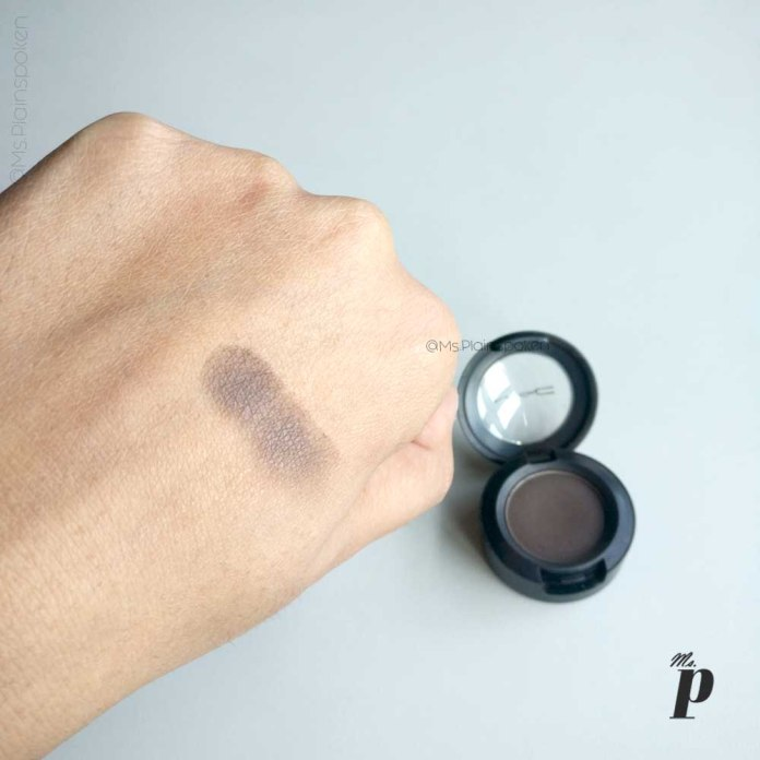 MAC Satin Eye Shadow - Brun Review and swatches on Indian skin (6)