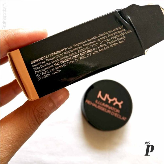 NYX Highlighter Illuminator Magnetic Review Swatches on dark skin ingredients
