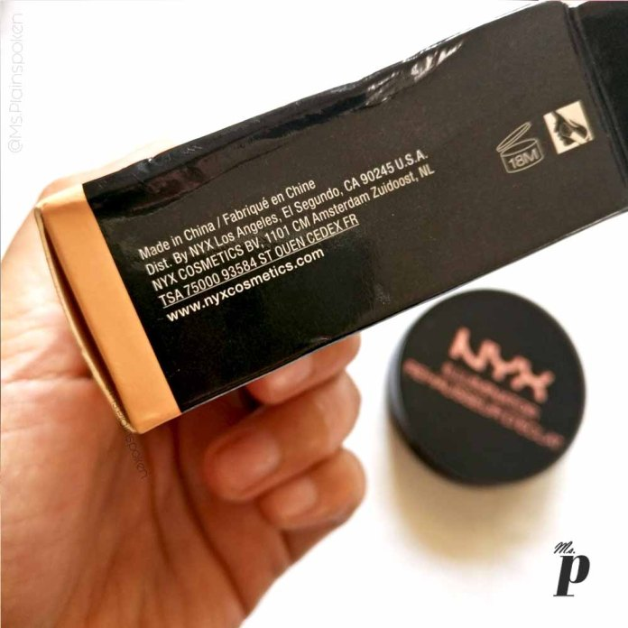 NYX Highlighter Illuminator Magnetic Review Swatches on dark skin_Manufacturing details shelf life
