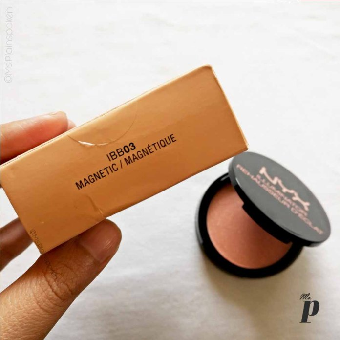 NYX Highlighter Illuminator Magnetic Review Swatches on dark skin_Shade code