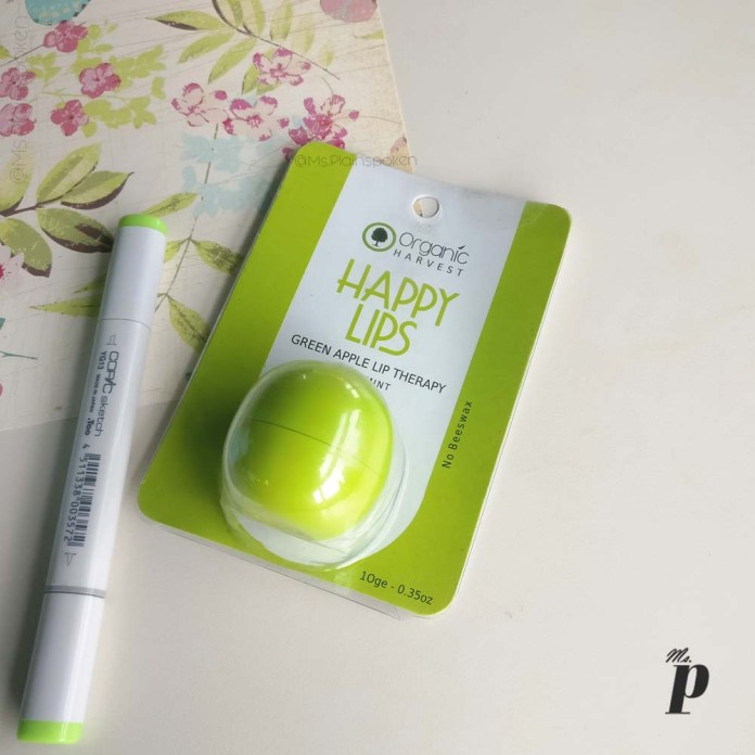 organic-harvest-happy-lips-lip-balm-green-apple-mint-review