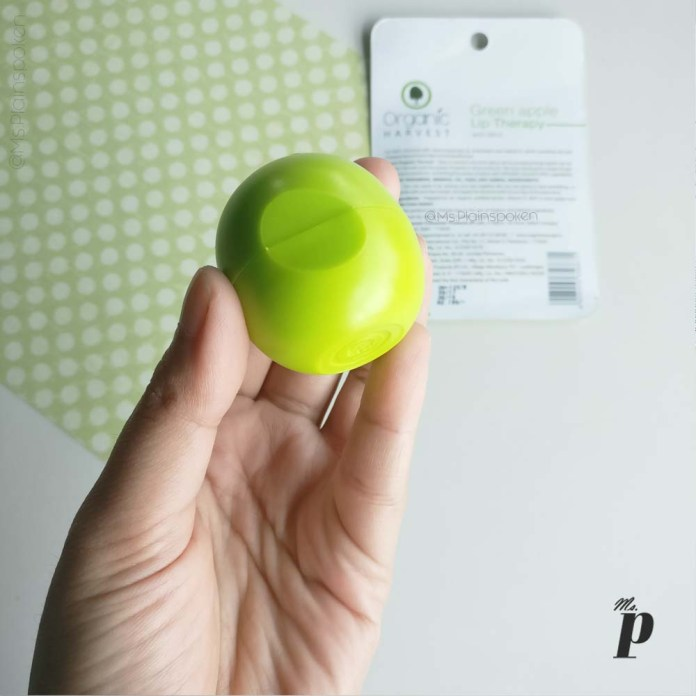 organic-harvest-happy-lips-lip-balm-green-apple-mint-review (packaging)