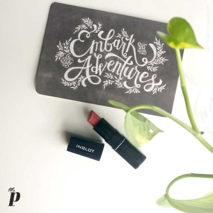 inglot-lipstick-145-review-swatches-on indian skin- feminine travel quotes