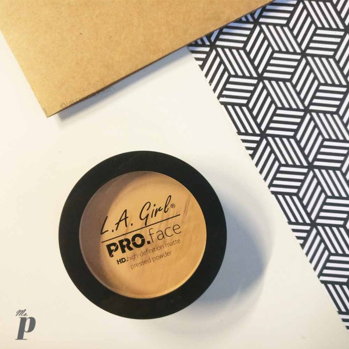 LA Girl Pro Face HD Matte Pressed Powder-GPP608 Soft Honey Review and Swatches
