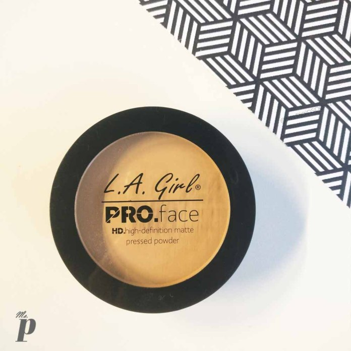 LA Girl Pro Face HD Matte Pressed Powder-GPP608 Soft Honey Review_Swatches