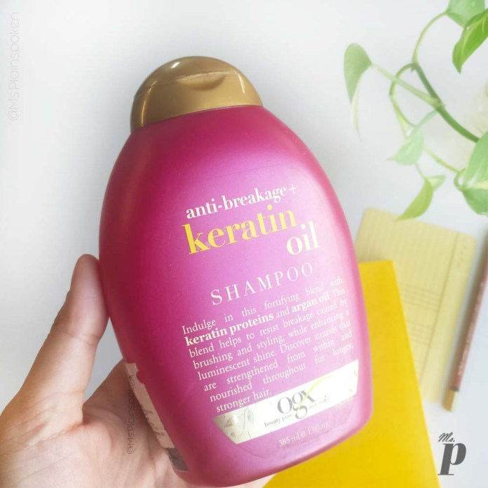 OGX: Keratin Oil Anti-Breakage Shampoo Review India | Packaging & Claims
