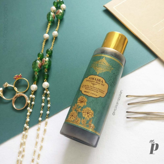 Royal Indulgence Amaira Hair Oil Review