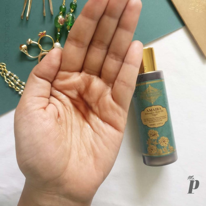 Royal Indulgence: Amaira Intensive Hair Oil | Consistency & Colour