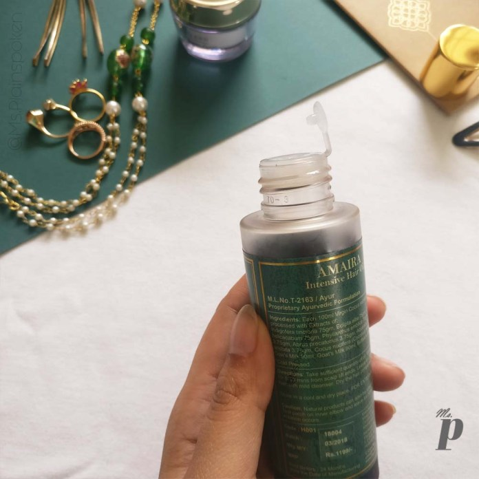 7_Royal Indulgence Amaira Hair Oil Review_packaging1