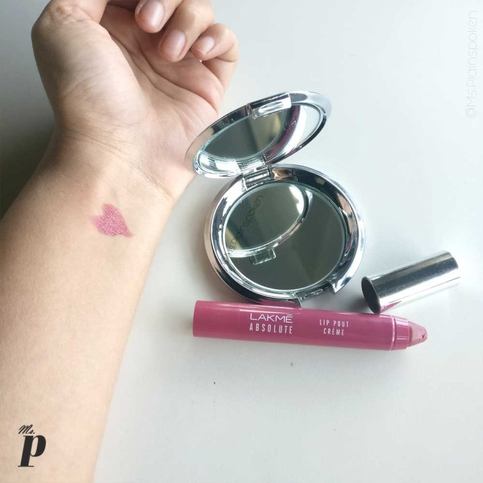 Lakmé Absolute Lip Pout Crème in Shade Mauve Hue | Swatches and Review