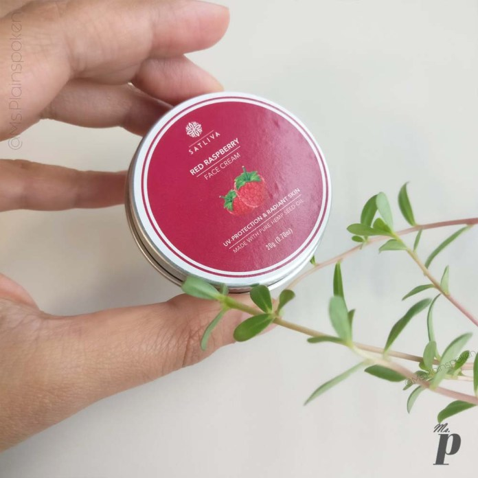 Satliva: Red Raspberry Face Cream  | Final Thoughts
