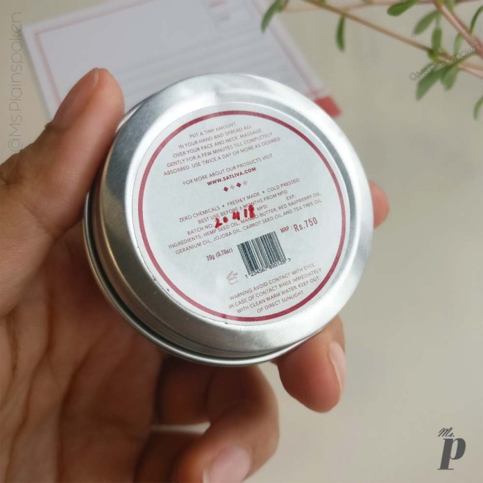 Satliva Red Raspberry Face Cream Review_Directions of Use, Ingredients & Cost (3)