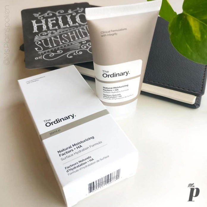 The Ordinary: Natural Moisturizing Factors + HA | Inner and Outer Packaging