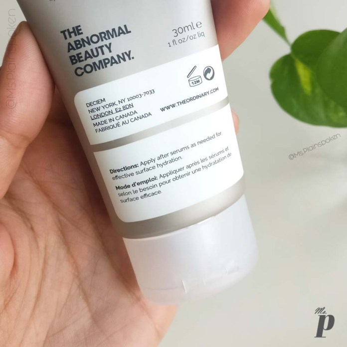 The Ordinary: Natural Moisturizing Factors + HA | Directions and Shelf Life